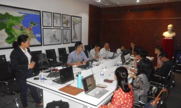 course on the use of the simulator to the urban planning department and to the utility companies of the city of Da Nang